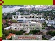 PJ Infoveranstaltung - PJ-Sprechstunde Kiel