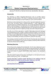 Model Integrated Mechatronics - SEG - Software Engineering Group