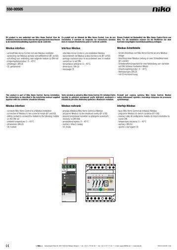 nikobus magazines rh yumpu com User Guide User Manual PDF