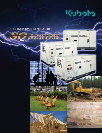 KUBOTA POWER GENERATORS - Frontier Power Products