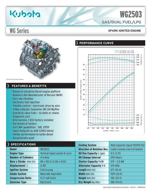 specs - Frontier Power Products