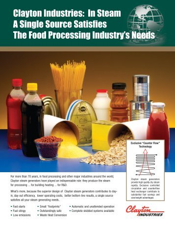 Food Industry Applications - Clayton Industries