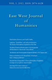 East West University Journal of Humanities, VOL.3 NO.2 2012