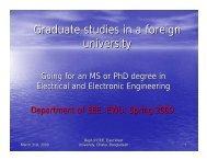 graduate education presentation - East West University