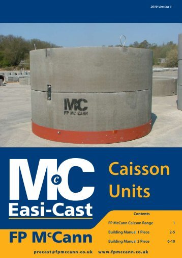 Caisson Units Brochure - FP McCann Ltd