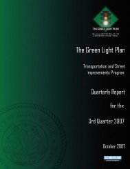Green Light Plan 2007 3rd Quarter Report - The Green Light Plan