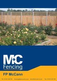 Fencing Products Brochure - FP McCann Ltd