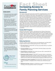 Increasing Access to Family Planning Services - Family PACT