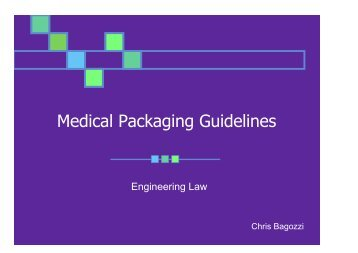 Medical Packaging Guidelines - Maesc.org