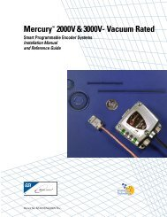Installation Manual - MicroE Systems