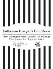 Jailhouse Lawyer's Handbook - Sentencing and Justice Reform ...