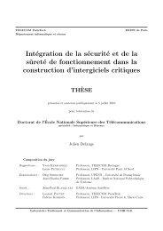 Intégration de la sécurité et de la sûreté de fonctionnement dans la ...
