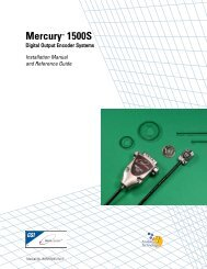 Mercury™ 1500S - MicroE Systems