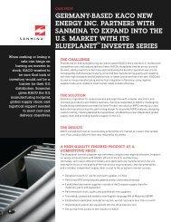 Solar Inverter Case Study - Sanmina