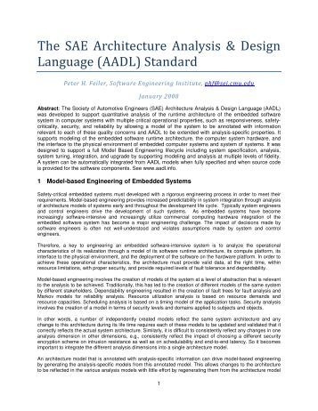 Formal semantics and analysis of behavioral aadl models in for Architecture design language