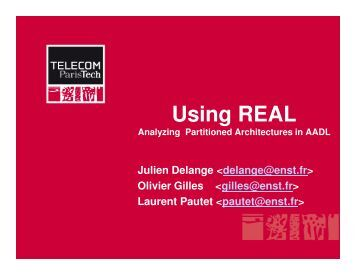 Using REAL for partitioned architectures
