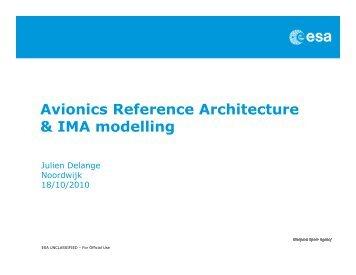 Avionics Reference Architecture & IMA modelling