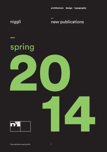 _ spring - Niggli Verlag