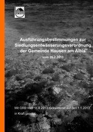 Ausführungsbestimmungen zur ... - Gemeinde Hausen am Albis