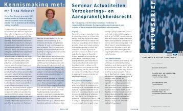 De nieuwsbrief van november 2004 - Ekelmans en Meijer Advocaten