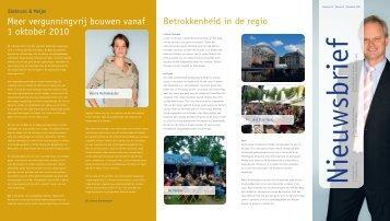 De nieuwsbrief van november 2010 - Ekelmans en Meijer Advocaten