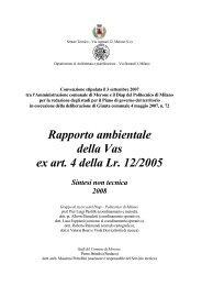 Rapporto ambientale della Vas ex art. 4 della Lr. 12/2005 Sintesi ...