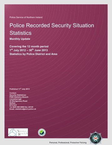 June 2013 Security Situation Statistics - Police Service of Northern ...
