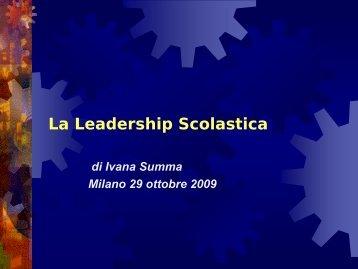 La Leadership Scolastica - Cidi di Milano