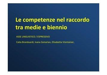asse linguistico / espressivo - Cidi di Milano