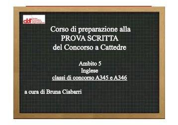 A345 e A346 - Inglese - Lez.01 - prof. Bruna Ciabarri ... - Cidi di Milano