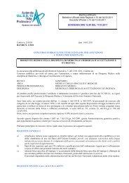Codice n. 230158 data 14.01.2011 BANDO N. 1/2011 CONCORSO ...