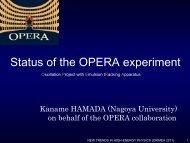 interaction - opera - Infn