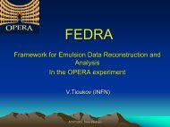 Framework for Emulsion Data Reconstruction and ... - opera - Infn