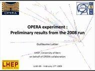 ν - opera - Infn