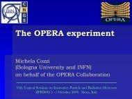 E - opera - Infn