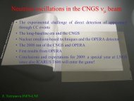 nt appearance via neutrino oscillations in the CNGS ... - opera - Infn