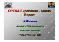 OPERA Experiment - Status Report - Infn