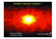 Another neutrino mystery ? - opera - Infn