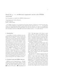 Search for νμ → ντ oscillations in appearance mode in the ... - Infn