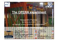 The OPERA experiment - Infn