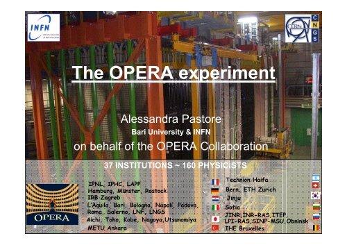 The OPERA experiment - Infn