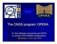μ - opera - Infn