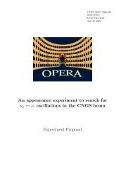 Experiment Proposal - opera - Infn