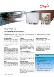 Akva Vita II TD - Danfoss Redan A/S