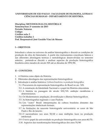 universidade de são paulo - faculdade de filosofia, letras e ciências ...