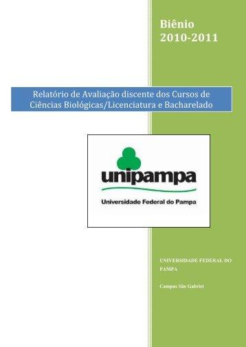 Relatório_biênio 2010-2011 - UNIPAMPA Cursos