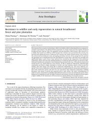 Resistance to wildfire and early regeneration in natural broadleaved ...