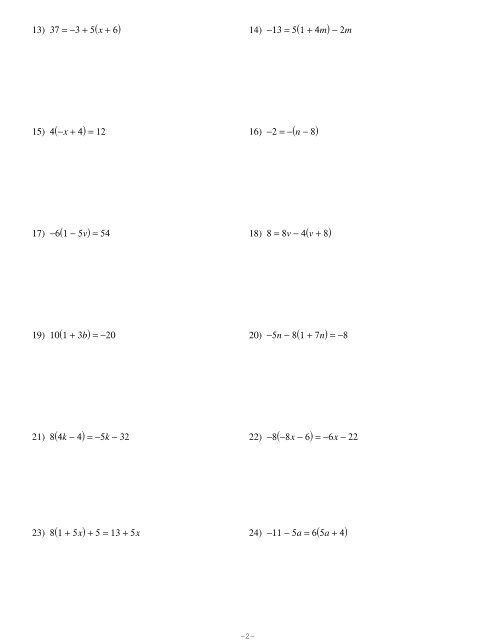 Solving One And Two Step Equations Worksheet Kuta - Tessshebaylo
