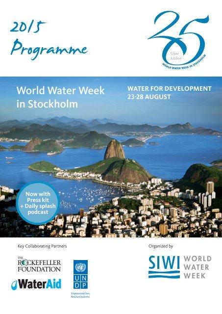 2015 World Water Week Programme