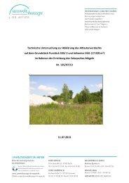 Technische Untersuchung zur Abklärung des Altlastenverdachts auf ...